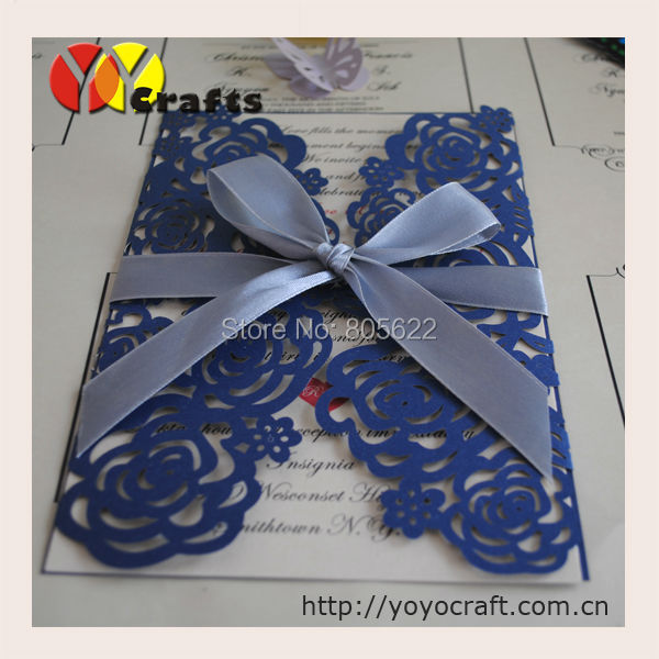 Us 55 2 Kids Party Supplies Luxurious Wedding Invitation Card With Sea Blue Color W Kids Party Supplies Luxurious Wedding Invitation Card With Sea