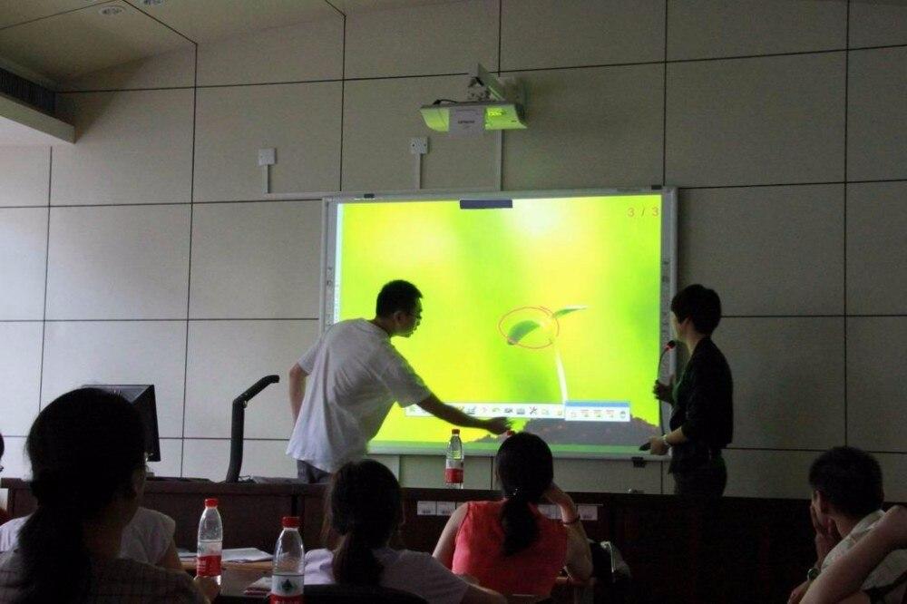2018 doigt écran tactile tableau intelligent 10 points multi-touch interactif tableau blanc basé technologie optique Laser