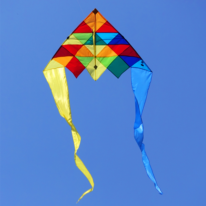 1.5M Single Line Delta Kite with Flying Tool Kite Line Handle Beach Kite Flying Outdoor Sports Fun