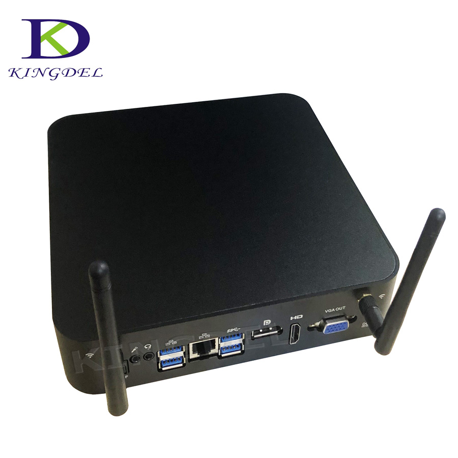 Newest Three Display Mini PC KabyLake 14nm  I7 7700HQ 6M Cache Nettop With 16GB DDR4 RAM 256GB SSD Game PC DP HTPC Windows10