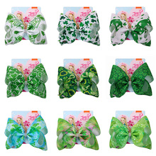 Jojo Siwa Accessory  8 Inch Large Christmas Hair Bow Handmad Ribbon Bowknot With Alligator Clip Children hair accessories