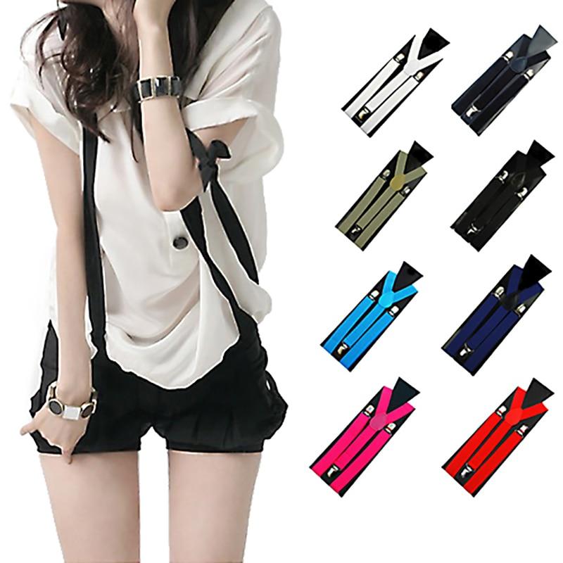 New Unisex Suspenders male Elastic Y-Shape tie braces for women braces for lady belt famale