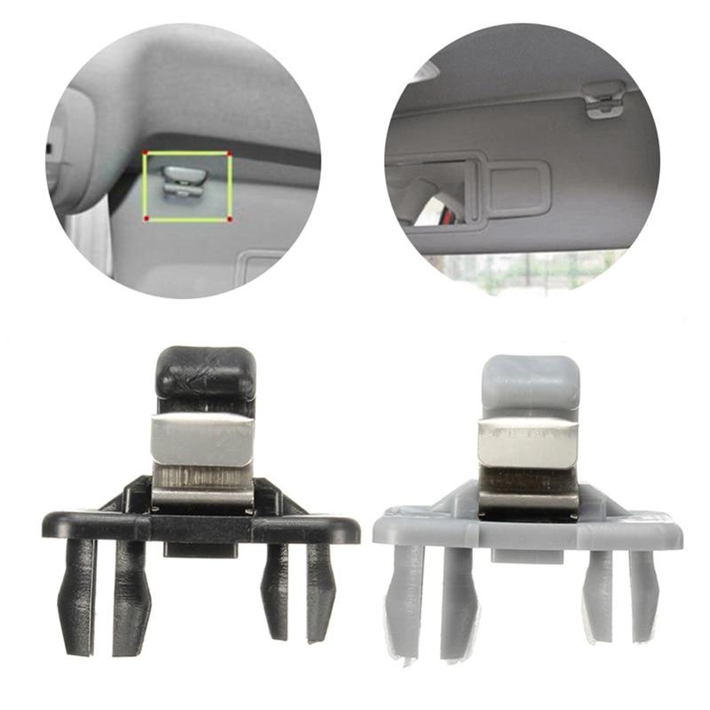 Sun Visor Hook,1pc Interior Sun Visor Fix Easy Hook Clip Bracket Hanger Sun Visor Clip for A1 A3 S3 A4 S4 A5 S5 Q3 Q5 TT 8E0857562A Silver