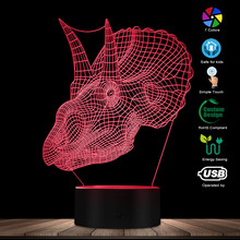 Gothic Dragon Skull 3D Optical Illusion Night Light Dragon Head LED Light Desk Lamp Goth Lighting Decoration Dragon Gift For Him