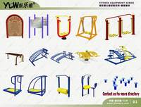 jians01 YLW amusement park body building equipment,gym fitness equipment,outdoor exercise