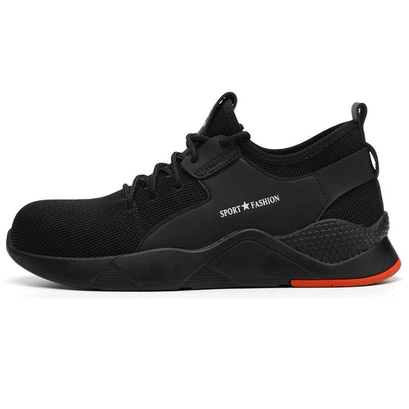 New 通気性の男性の屋外快適な鋼つま先抗スマッシング保護作業靴男性パンク証拠安全靴