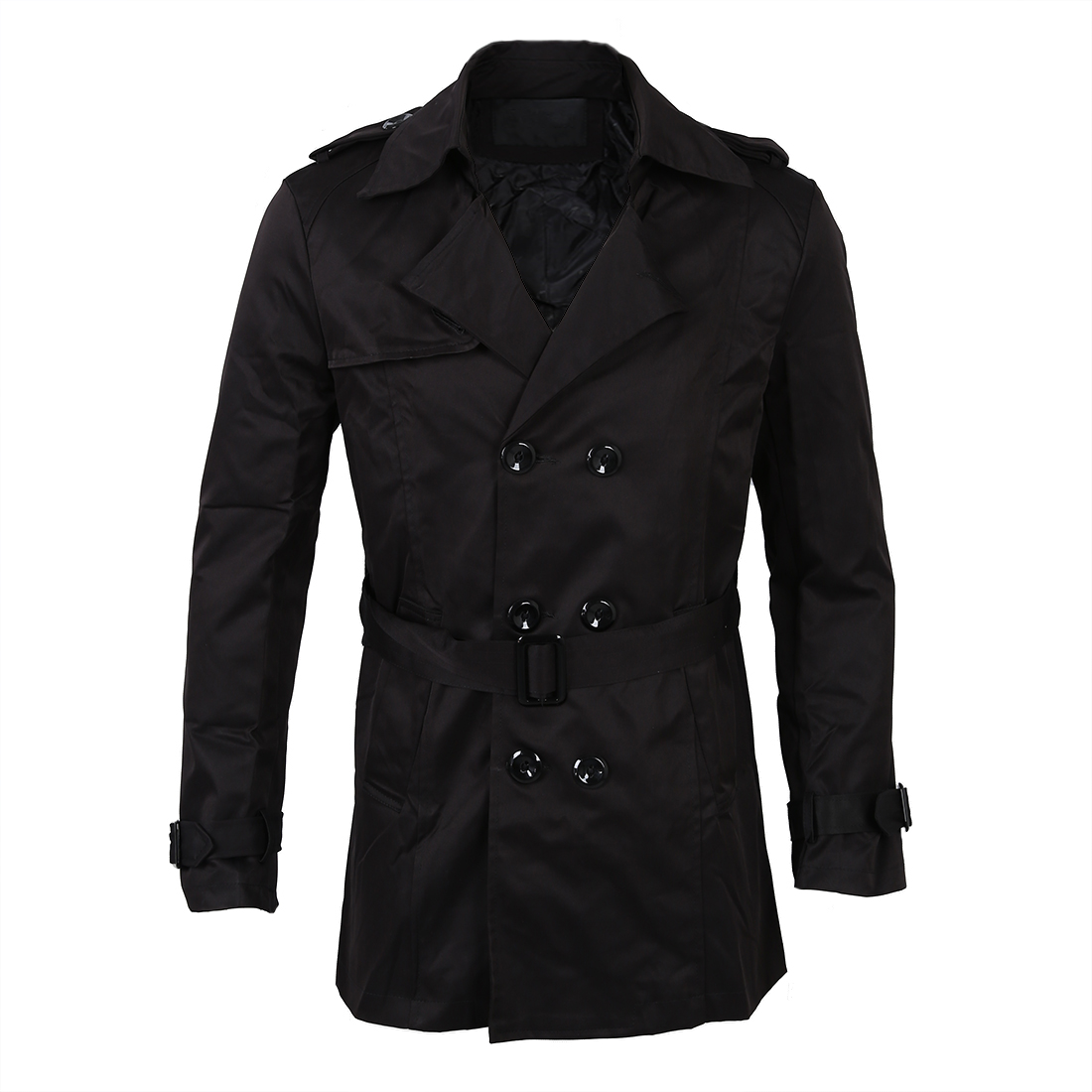 Steampunk Men Jackets Trench-Coat Double-Breasted Long Outwear Winter Masculino Abrigo title=