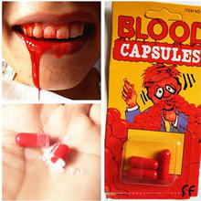 Citygirl Fake Blood Pill Vampire Capsules Horror Funny Halloween Fancy Dress Joke Party(China)