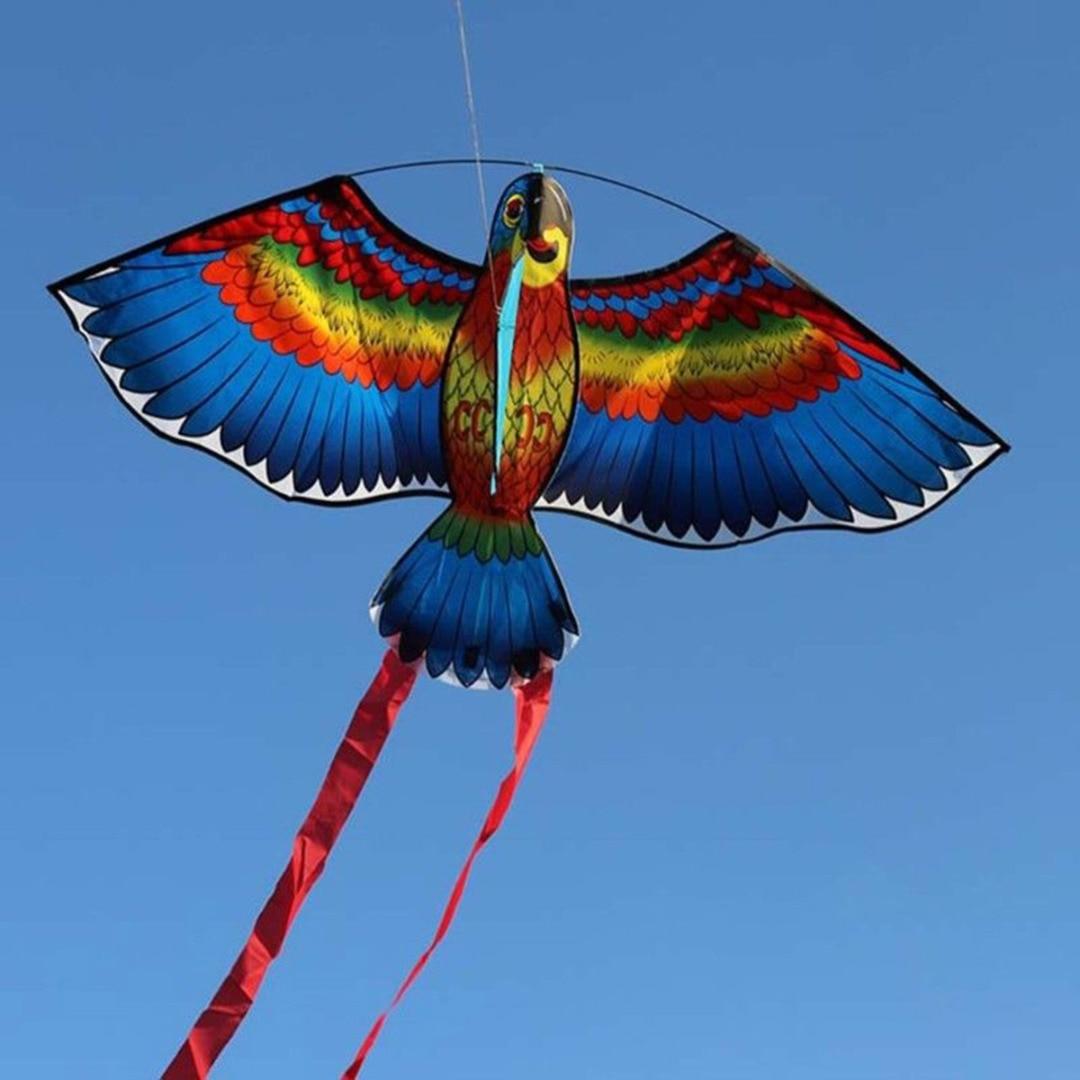 Mayitr 1 pc 1.1 m Parrot עפיפון טיולים משפחתיים חיצוני כיף ספורט ילדים עפיפונים עף צעצועים לילדים ילדים גבוהה איכות