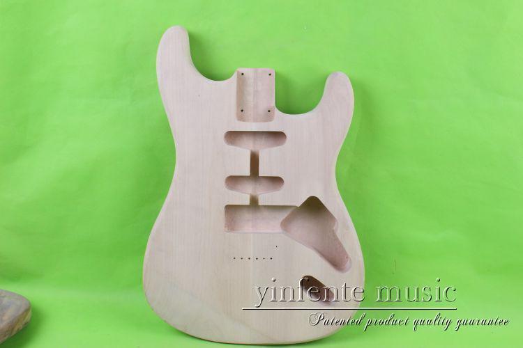 one 24 # Unfinished electric guitar body mahogany wood made цены онлайн