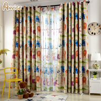 Customized Cartoon Blackout Curtain For Kids Bedroom Child Curtain Curtains Drape For Living Room