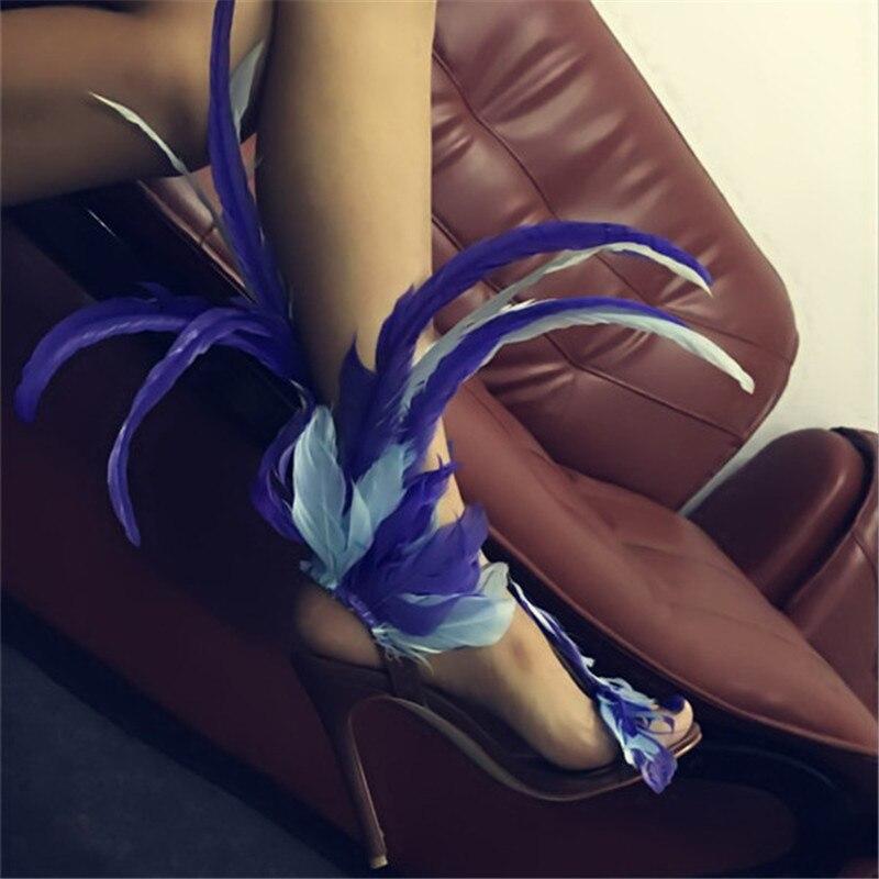 Hauts Sandales D'été Cheville Clouté Talons Chaussures Wrap strap Femmes Plage Mujer T De Design Plume Mode Boucle Stade w6PF7Oq