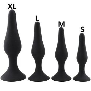 Sexe noir godemichet Anal pour débutant jouets érotiques Silicone Plug Anal produits pour adultes jouets sexuels anaux pour hommes femmes masseur de Prostate Gay