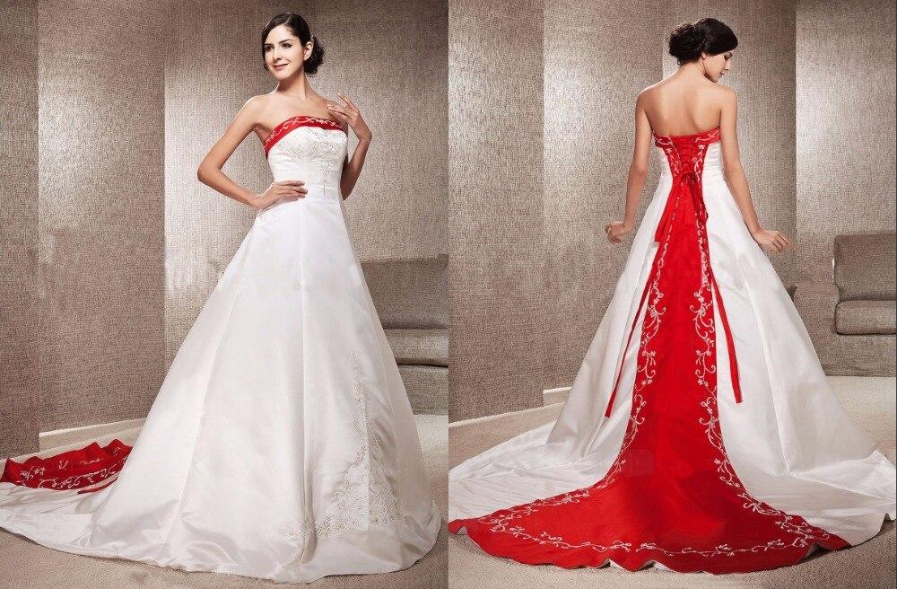 f22f8299a vestidos de novia color blanco y rojo