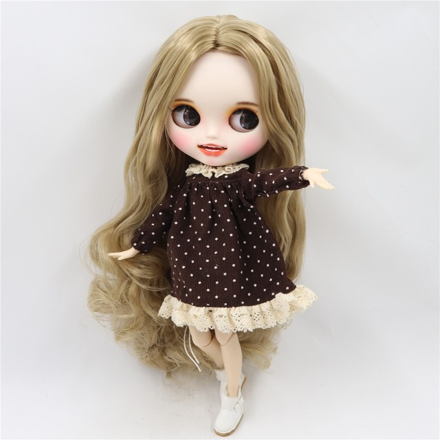 Reagan – Premium Custom Blythe Doll with Clothes Smiling Face