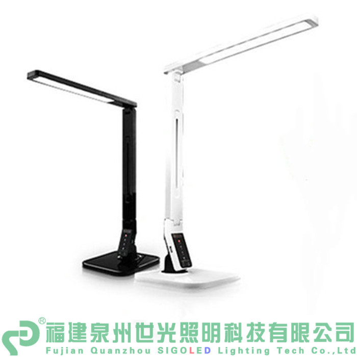Freeshipping-2pcs/lot Eye Protect USB Foldable 14W Dimmable&Color Temperature Adjustable LED Desk Lamp Table Lighting led lamps dimmable touch sensor powerful led desk lamp eye protection 5 level dimmer 4 lighting modes table lamp lamparas led r25