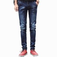 High quality Jeans Men 2016 Designer Brand Fashion Long Pants Blue Colors Straight Regular Fit Denim Jeans Men