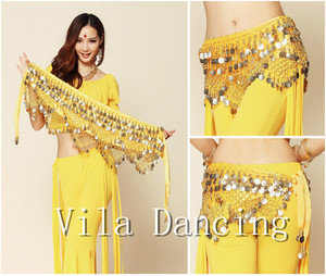 Image 4 - Новый стиль монеты танец живота Талия цепи Hip шарф живота Танцы ремень, 9 видов цветов для вашего выбора.