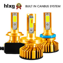 Hlxg 12V H7 Turbo Led Headlight H11 Canbus Led H4 Auto H1 H3 9005 9006 H8 H9 HB3 HB4 Fog Light 6000k Ice Lamps No Error(China)