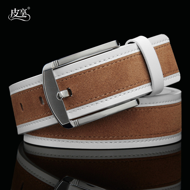 Fashion Brand Korean Man Genuine Leather Belt,Casual Suede Real Leather Men Ceinture Belts For Jeans,Drop Shipping Q39