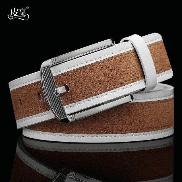 Marca de moda de Corea del Hombre Correa de Cuero Genuino, Gamuza Casual Hombres Ceinture Cinturones de Cuero Real Para Los Pantalones Vaqueros, Envío de La Gota P39