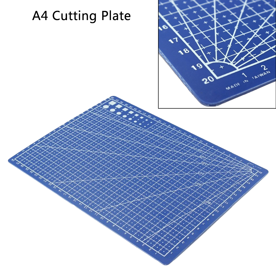 Card Leather Cutting Plate A5 Grid Lines Cutting Mat Paper Board Sewing Tool