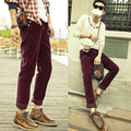Summer trousers for men 2016 men's corduroy casual pants Straight trousers Korean Slim fit Long train pants  8