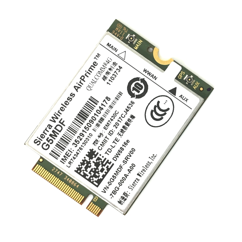 EM7430 DW5816e GOBI6000 4G card LTE for <font><b>Dell</b></font> Latitude 7280 7285 7290 7389 7390 7480 <font><b>7490</b></font> E7470 Cat6 300M 4G module image