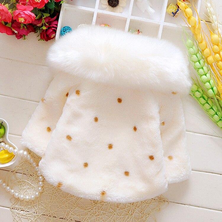 Купить с кэшбэком babzapleume 1-3Years/autumn winter baby girls clothes faux fur coats cute warm soft fleece kids jacket children outerwear BC1531