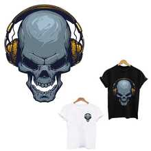 Skull Listening to Music Patch