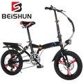 20 дюймов складной велосипедный, переключения для взрослых гидравлический амортизатор велосипеда Магниевый сплав интеграл колеса складной...