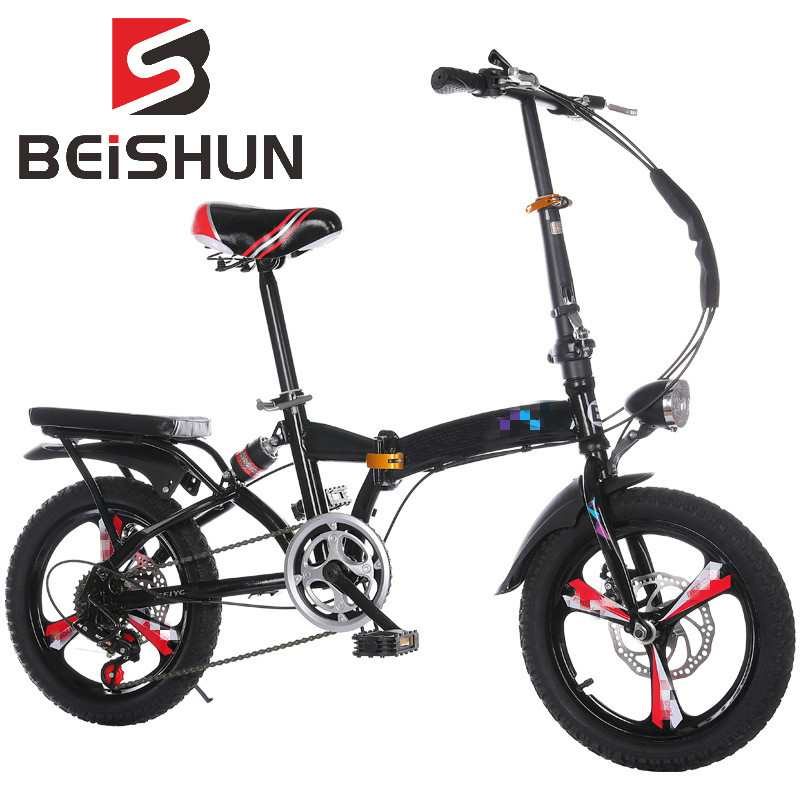 20 Inch Folding Bicycle Shifting Adult Hydraulic Shock Absorber Bicycle Magnesium Alloy Integral Wheel Folding Bicycle