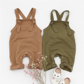 2018 New Summer Toddler Overalls Baby Suspender Pants Solid Baby Boy Overalls Green/Brown Girls Cute Overalls Pants For Kids