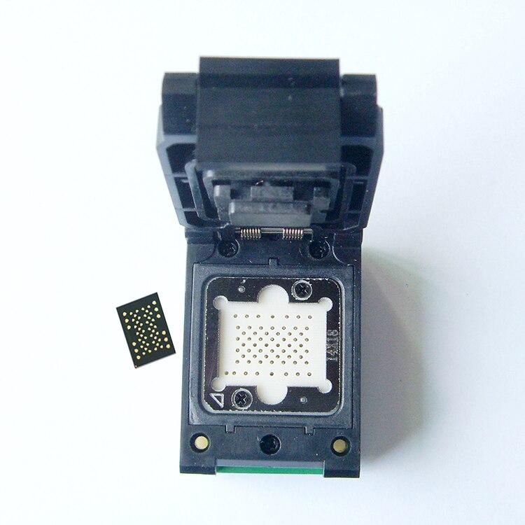 LGA52 à DIP48 Pogo broche IC prise de Test avec carte Flash programmeur adaptateur graver dans la prise Cleamshell Structure adaptateur