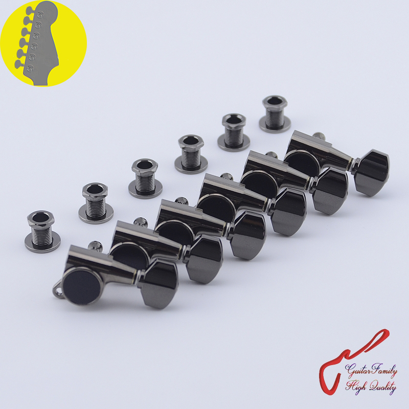 Original Genuine 6 In-line GOTOH SG381-07 Guitar Machine Heads Tuners ( Cosmo Black ) MADE IN JAPAN wilkinson deluxe wj55s 6 in line machine heads tuners black new guitar parts