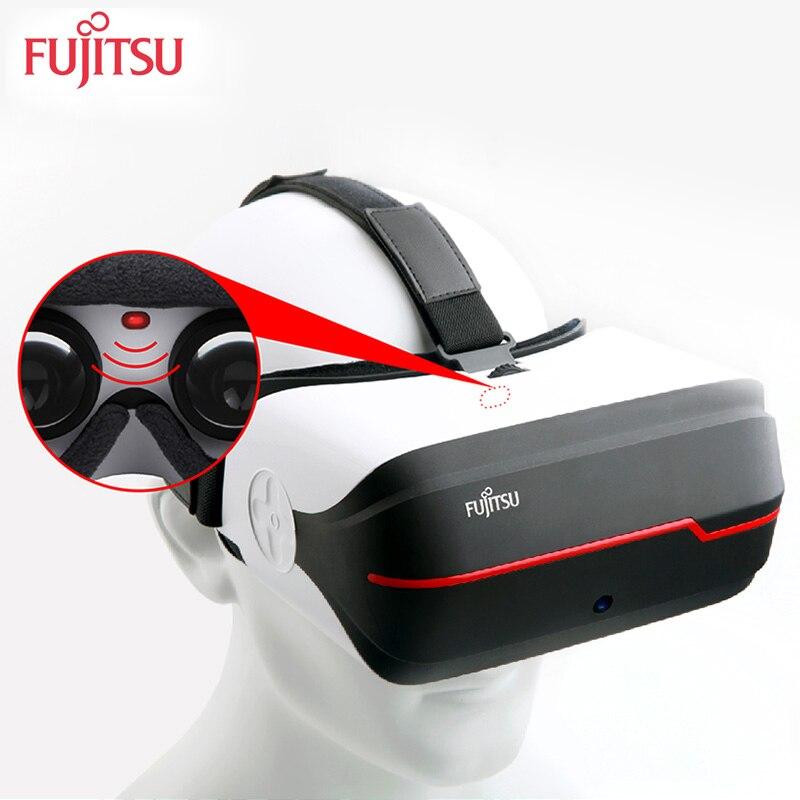 Fujitsu FV200 D'origine 3D VR Virtuel Lunettes tout-en-un propre système 2 k 16 gb wifi/ bluetooth pour les jeux ou cinéma
