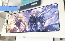 Fate mousepad gamer locked edge 800x300x3mm gaming mouse pad large thick notebook pc accessories laptop padmouse