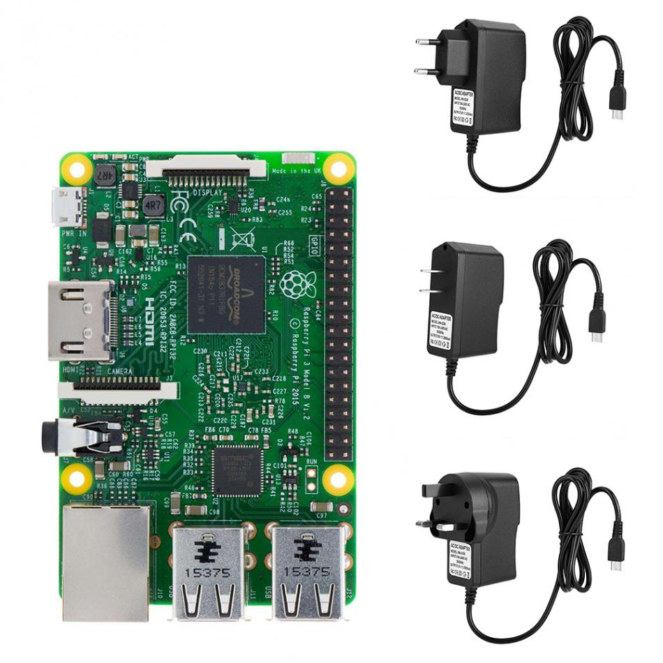 5V 2.5A 100-240V Micro USB <font><b>Charger</b></font> <font><b>Power</b></font> Supply <font><b>Adapter</b></font> for Raspberry Pi 3