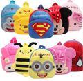 Bonito Miúdos Dos Desenhos Animados Mochilas De Pelúcia Spiderman Mini Olá Kitty mochila de Pelúcia Mochila Crianças Sacos De Meninas Da Escola Meninos Mochila