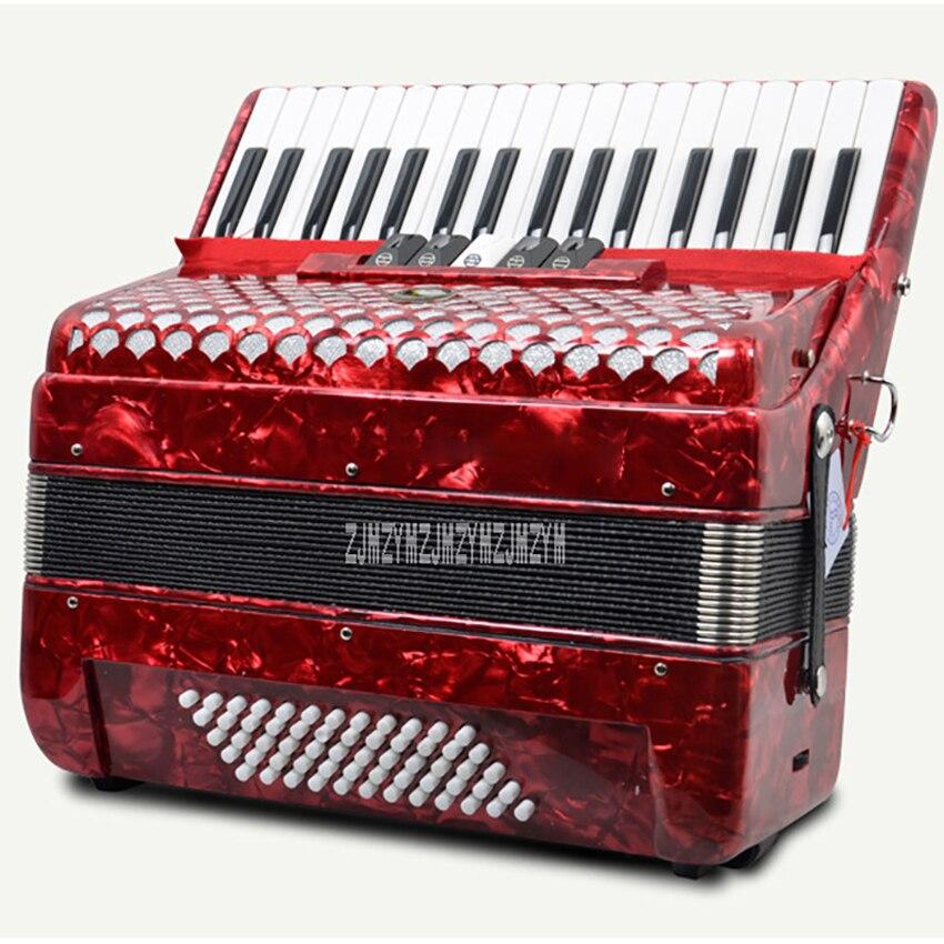 SJ2019 Adult Children Keyboard Instrument Accordion High-End Professional Performance 60-Bass 34-Key 5 Voice Change For Beginner