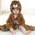 New Baby Blankets Size 90*80cm  Cartoon Leopard Warm Blanket High Quality Receiving Blanket For Newborn 0-2 Years Unisex