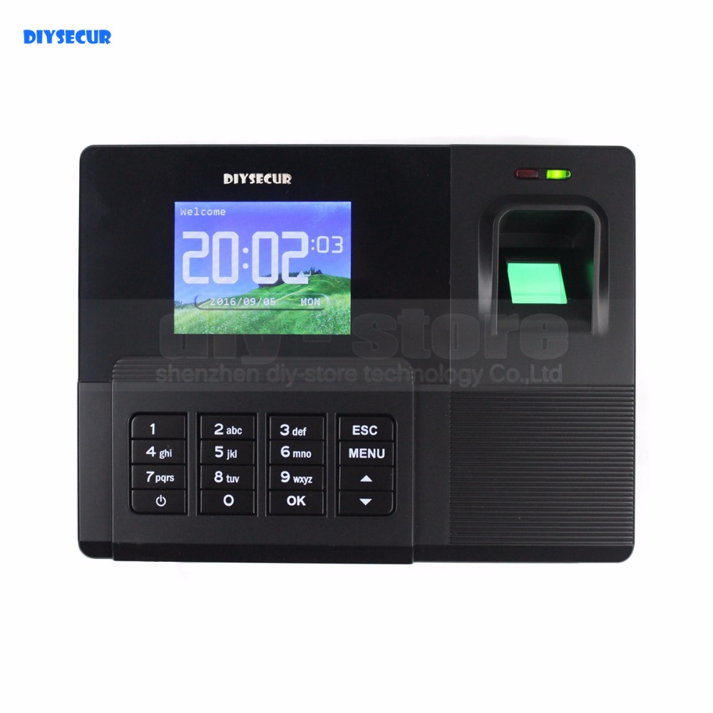 DIYSECUR 2.8inch LCD Biometric Fingerprint Time Attendance Digital Electronic Reader Machine Clock Employee Payroll Realand free shipping a c061 biometric fingerprint time clock realand biometric fingerprint time attendance