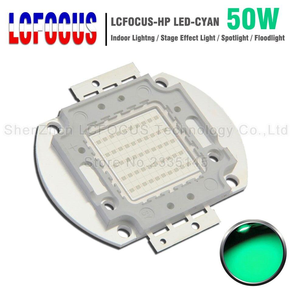 Super lumineux 50 W Cyan 490-495nm puce LED SMD COB Diode bricolage projecteur extérieur projecteur ampoule lampe pour 50 W watts lumière perles