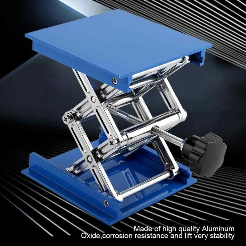 Регулируемая алюминиевая оксидная лабораторная подъемная платформа лабораторный домкрат ножничный Стенд стойка 100X100X150 мм лабораторная подъемная стойка