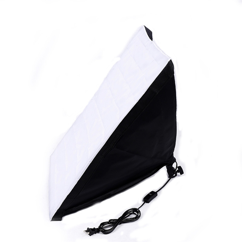 50X70 CM/20 ''X 27,6'' Falten Fotografie Studio Umbrella Foto Softbox Verdrahtete Reflektor Für Flash blitzgerät Mit E27 Sockel