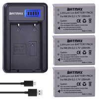 Batmax 3 pièces EN-EL5 EN EL5 ENEL5 Batterie + LCD USB Chargeur pour NIKON Coolpix P530 P520 P510 P100 P500 P5100 P5000 P6000 P90 P80