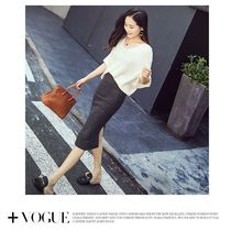 Women Ladies Sexy Winter Package Hip Pencil Skirts Fashion Females Pleated Woolen High Waist Slim Midi Skirts For Office Party