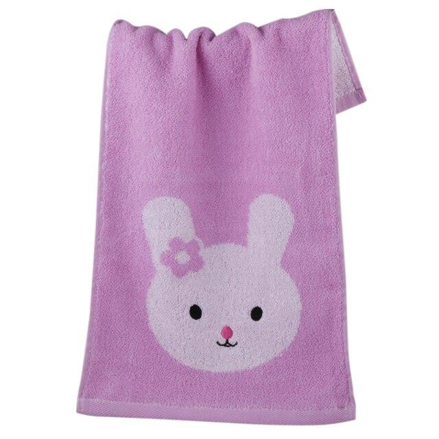 Carino stile animale 25*50 cm del fumetto ricamato towel smiley face asciugamano