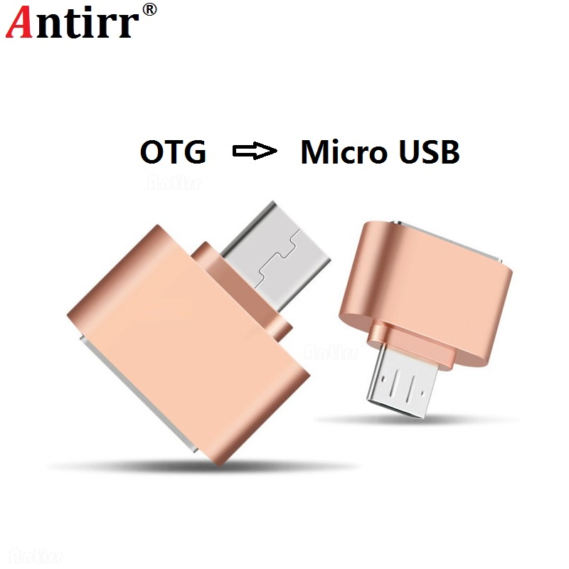 Antirr Android Micro USB OTG Cable Adapter 2.0 Mini Converter For Flash Drive Mouse Keyboard Hand Shank Card Reader Tablet Phone