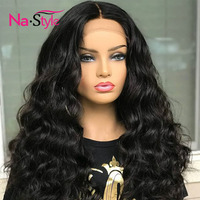 180 Density Body Wave Lace Front Wig 13x6 Deep Part Lace Front Wig Peruvian Virgin Hair Wig Human Hair For Women Bounce Curly